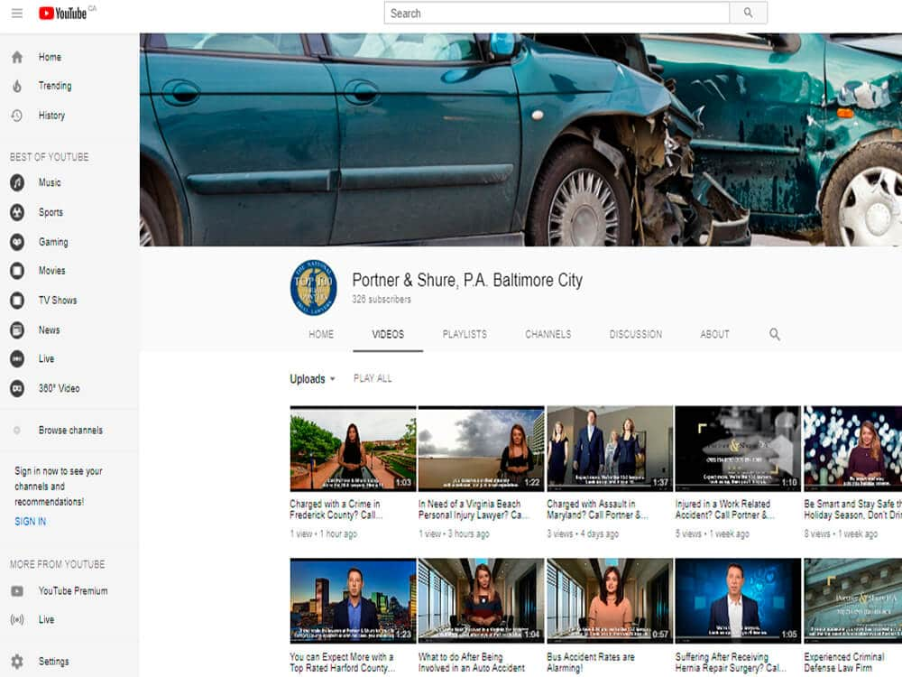 Video Advertising on YouTube social media marketing for lawyers